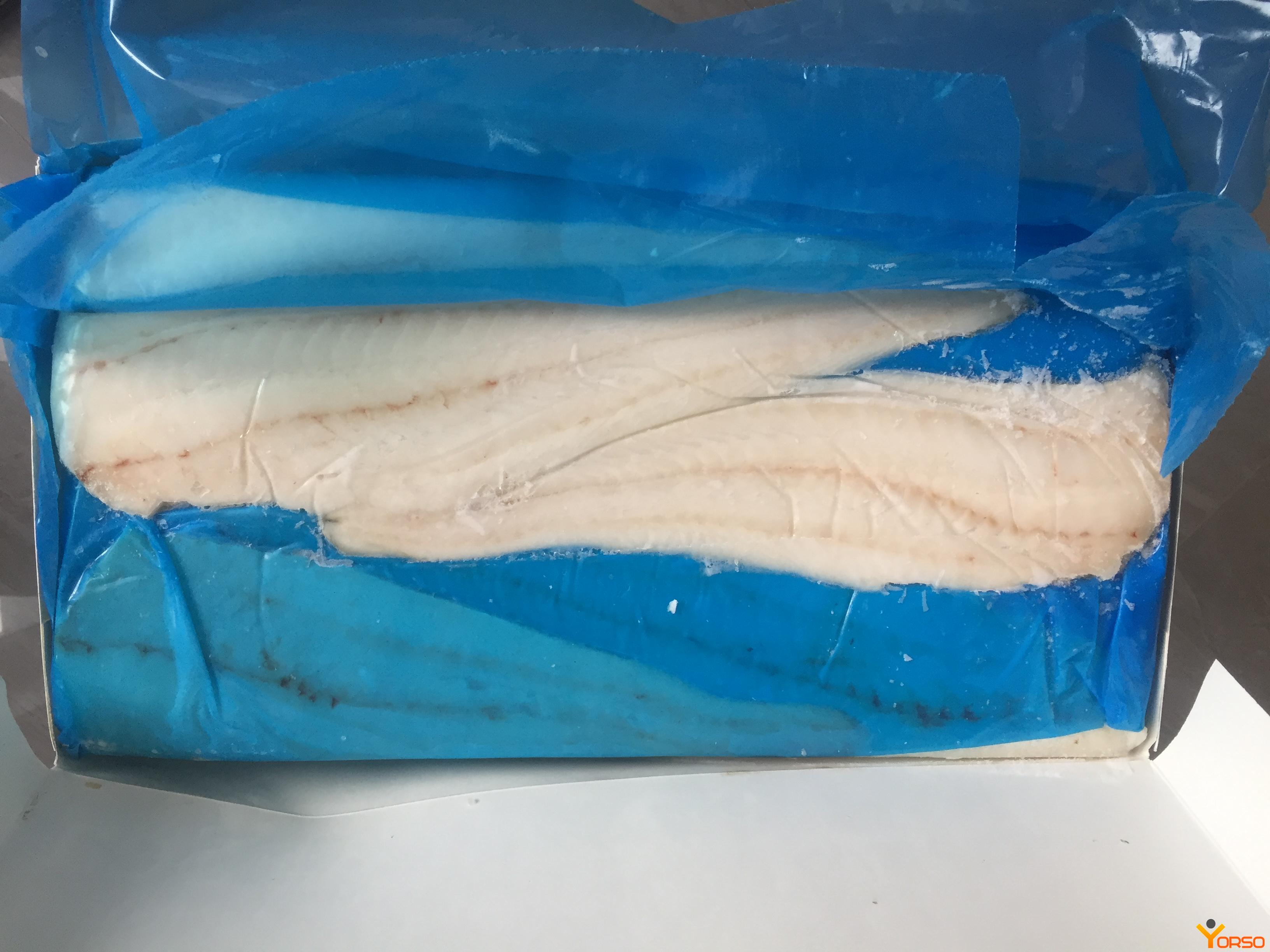 COD fillets on the skin