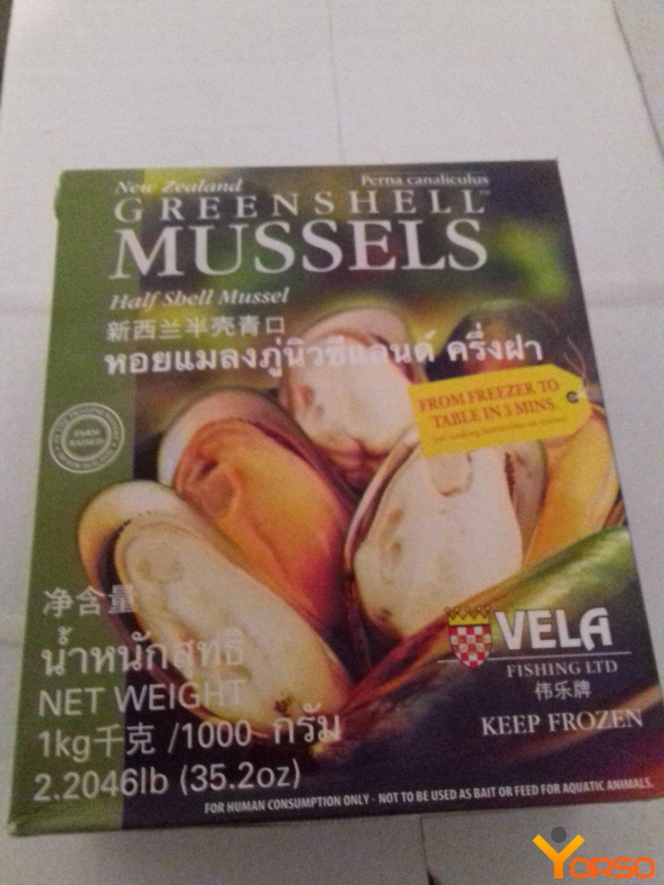 Kiwi mussels on the half shell, 30-45, 1/10