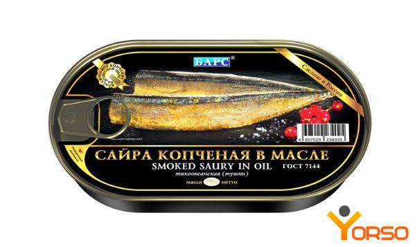 Saury smoked in oil, 190 g