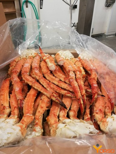 Red King crab clusters cooked frozen